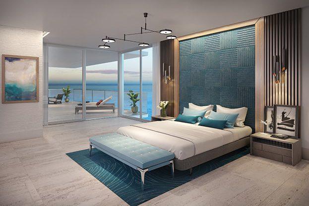 5000 North Ocean Interior Bedroom Rendering, by Kolter Urban
