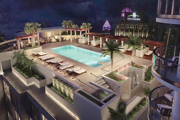 100 Las Olas Rooftop Pool, by Kolter Urban