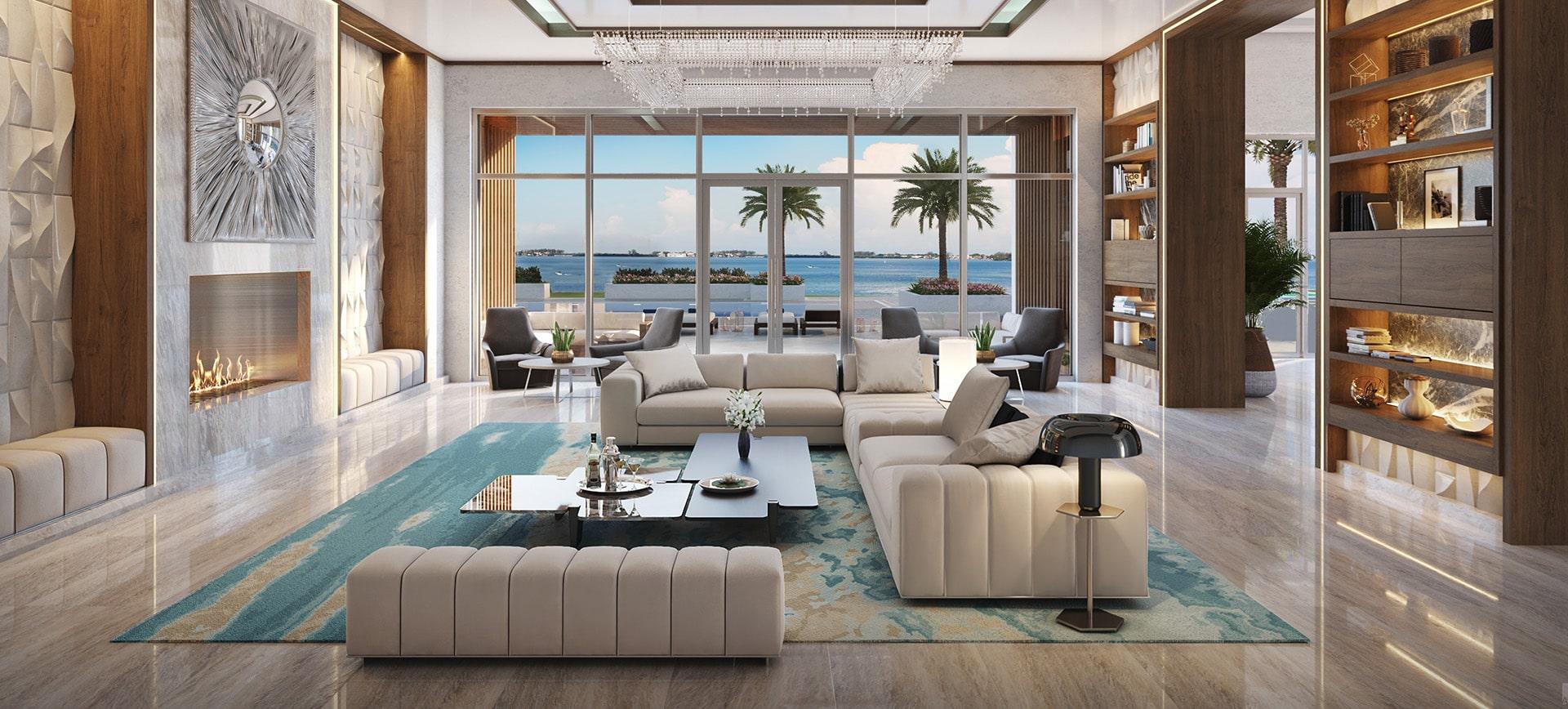 The Ritz-Carlton Residences, Sarasota Interior Rendering by Kolter Urban