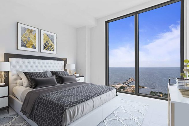 ONE St. Pete penthouse bedroom