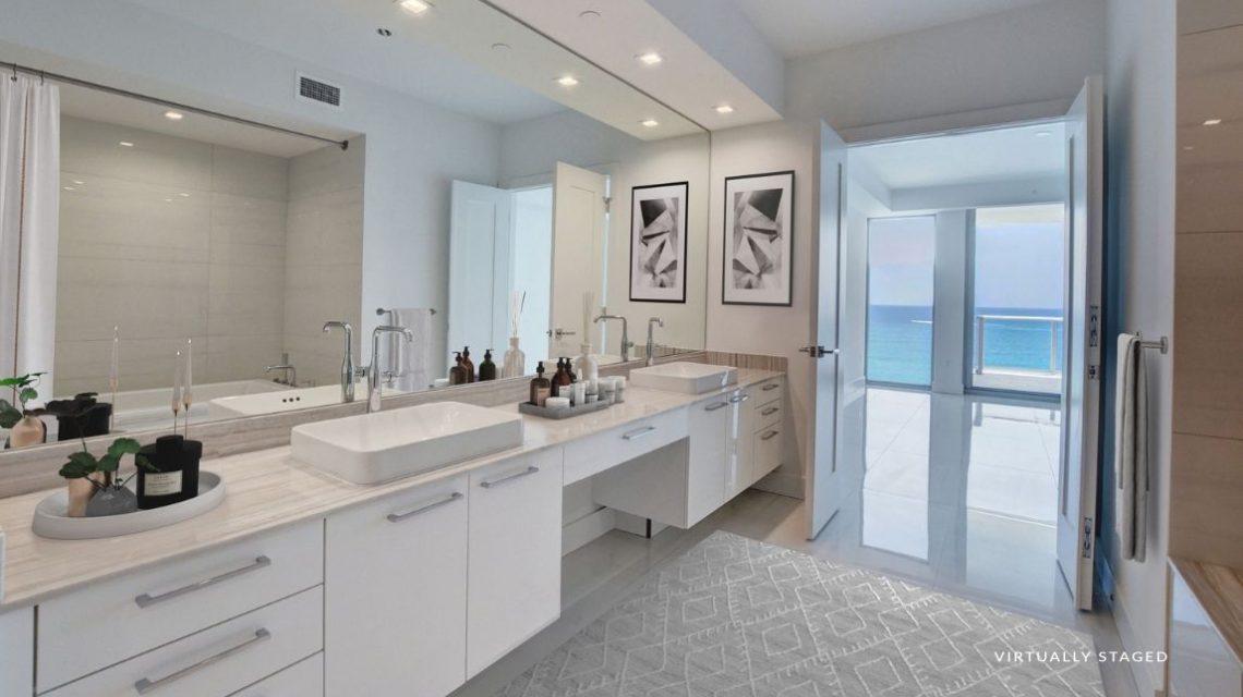 5000 North Ocean BeachWalk 1102 Virtually Staged Bath Room