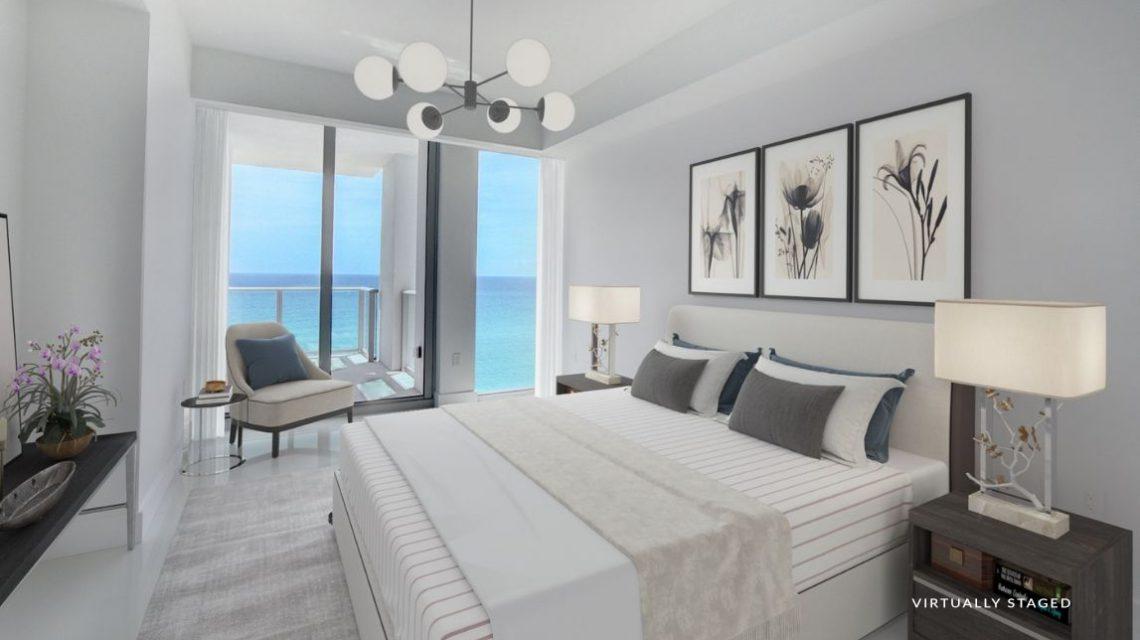 5000 North Ocean BeachWalk 1102 Virtually Staged Bed Room