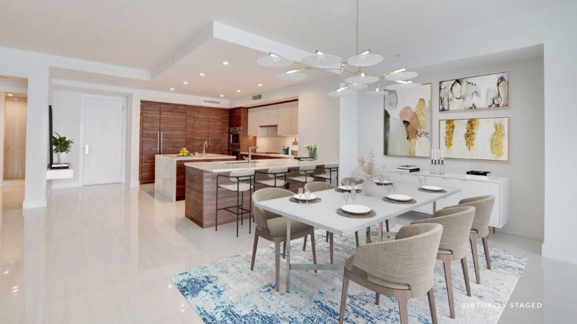 5000 North Ocean BeachWalk 1102 Virtually Staged Kitchen