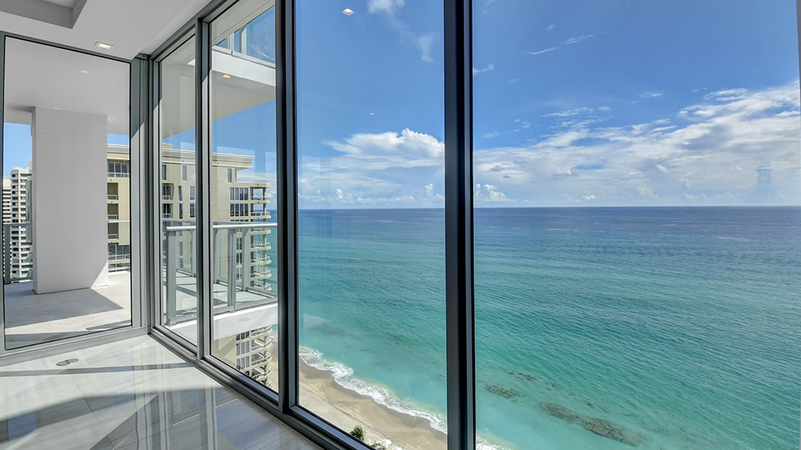 5000 North Ocean Seabreeze South 1801 view