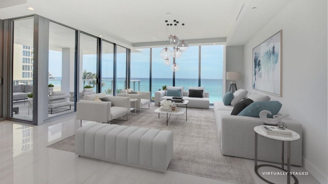 5000 North Ocean SeaBreeze 501 Virtually Staged Great Room