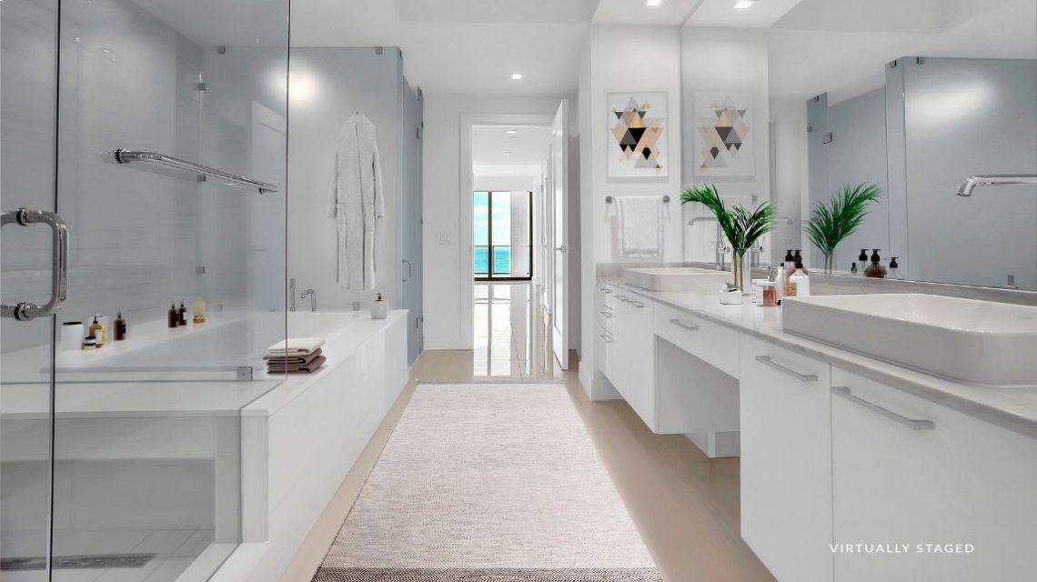 5000 north ocean seaglass model bathroom virtually staged