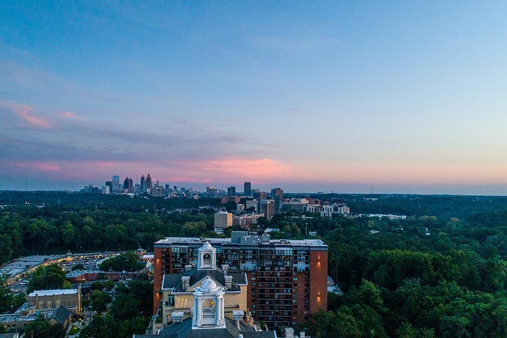 view from graydon buckheads 22nd story